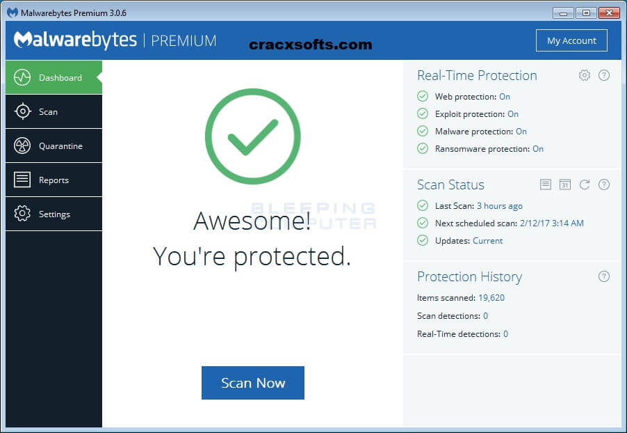 Malwarebytes Anti-Malware 3.6.1 License Key