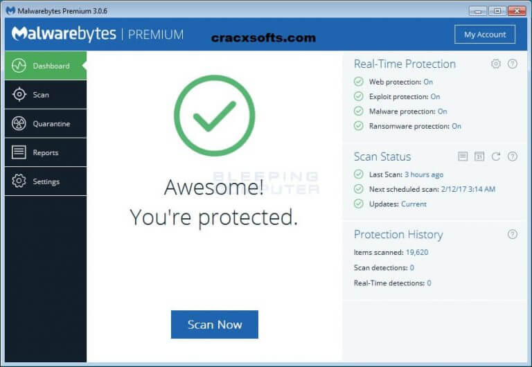Malwarebytes Anti-Malware 3.7.1 License Key