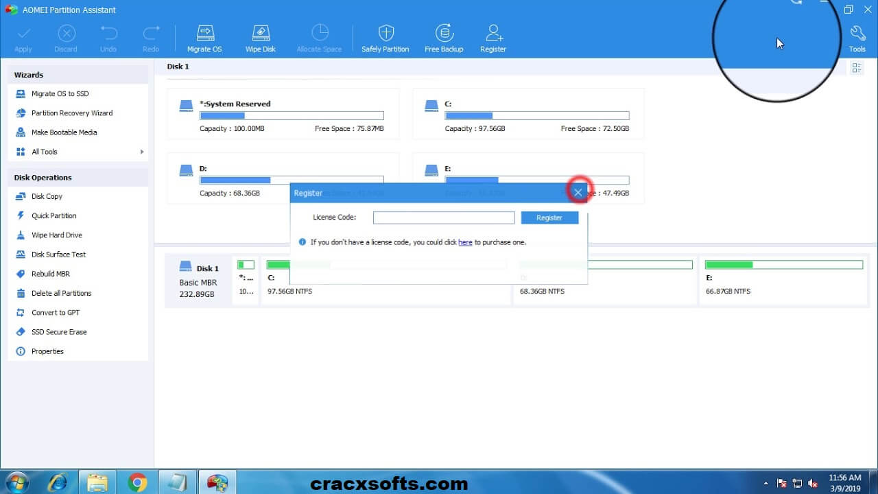 AOMEI Partition Assistant 8.1 License Code