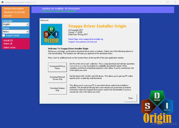 Snappy Driver Installer Origin Crack + Serial Key 2020 Free Download